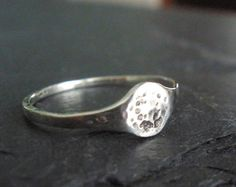 Moon Ring Sterling Silver Handmade Moon Phase Ring Full Moon Ring Outer Space Tiny Ring Made to Order