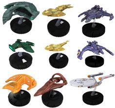 Heroclix Star Trek star ships. same size as the Micro Machine ships