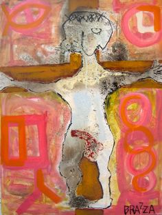 "Saatchi Online Artist: Marco Menato; Mixed Media, Painting ""Christ erect"""