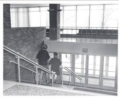 Hogan Physical Education Center front entrance, Alma College: Archival photographs.