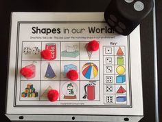 3D Shapes in the environment--roll and cover activity!