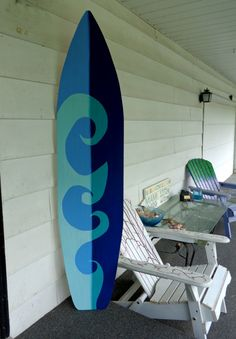 6 foot Wave design Surfboard wall art by HopelessRomanticShop, $119.99