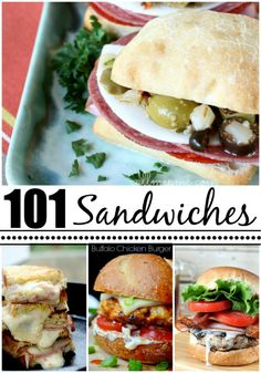 101 Favorite Sandwich Recipes - I can use this for menue insporation and also if I dicide to make the book