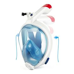 MYTHQUATE Folding Snorkel Mask 180° Panoramic Larger View...