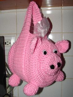 Ravelry: Kitchen Bags Holder Pig pattern by Yana Muradian