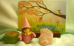spring seasonal table idea (inspiration only, link broken)