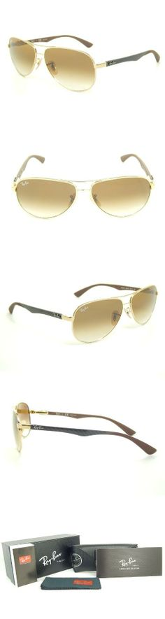 New Ray Ban Tech RB8313 001/51 Gold+Grey/Crystal Brown Gradient Lens