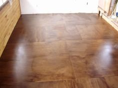 Stained Plywood Floors The floor is 9'x15' and one