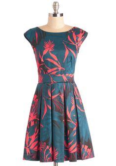 Fluttering Romance Dress in Palms | Mod Retro Vintage Dresses | ModCloth.com