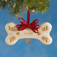 Puppy Bone Ornament by Lenox - Give the dog a bone. The Puppy Bone Ornament is the perfect gift for the dog lovers on your Christmas list. Lenox Christmas Ornaments, Christmas Decorations, Holiday Decor, Christmas Ideas, Cute Gifts, Best Gifts, Grazing Animals, Animal Crafts, Gifts For Pet Lovers