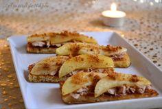 Recette de Toasts de pain perdu au foie gras, pomme et spéculoos : la recette facile