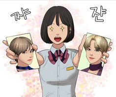 "The BTS members recently appeared on the Korean webtoon series ""The Secret of Angel"" (여신강림) and fans are absolutely loving it. Suho, Ig Profile Pic, Webtoon Korean, Dramas, Bts Beautiful, Kpop Drawings, Webtoon Comics, Line Friends, Bts Pictures"