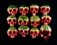 calaveras talladas en verduras y frutas #funfood #comidadivertida #arecetas #art #arte