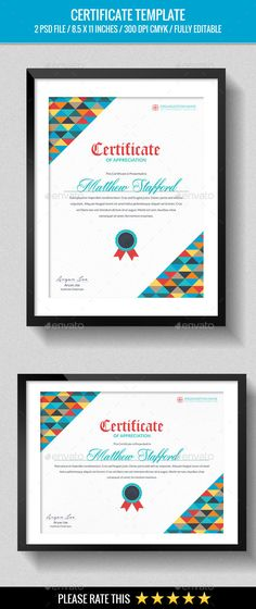 Certificate Template With Clean And Modern PatternVector