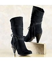 Boot Top Stitch Slouch By Midnight Velvet