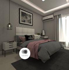 O apartamento localizado no bairro de Laranjeiras, no Rio de Janeiro, todo reformado, ganhou um quarto de casal com paleta de cores em cinza, branco e rosa, as favoritas da cliente. A cliente solic…