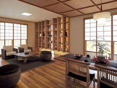 コンテンポラリーなインテリア イメージ Modern Japanese Interior, Japanese Home Decor, Modern Interior, Style At Home, Japanese Living Rooms, Condominium Interior, Japan Interior, Asian House, Japanese Style House