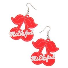 MILKFED. CHERRY EARRING ❤ liked on Polyvore featuring jewelry, earrings, cherry…