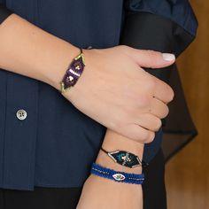 Zoe Kompitsi | Royal Blue Eye Diamonds Bracelet Royal Blue, Bracelet Watch, Knot, Diamonds, Fashion Jewelry, Beads, Bracelets, Accessories, Beading