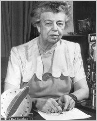 Mrs. Roosevelt speaking about the United Way on WNBC radio.