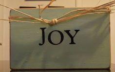 """Joy"" shelf sitter"