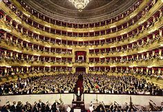 Teatro alla Scala, famous opera theatre in Milan. It also has its own museum about theatrical history.