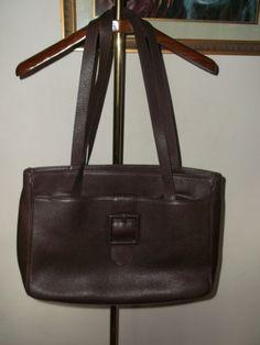 LANCEL PARIS Brown Leather Tote Shopper Bag