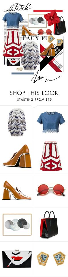 """""""Reder fur"""" by tobash21 on Polyvore featuring Yves Salomon, Marni, RED Valentino, ZeroUV, Art Addiction, Christian Louboutin, Charlotte Olympia, Kate Spade and Salvador Dali"""