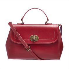 Leather Turnlock Handbag   Cath Kidston
