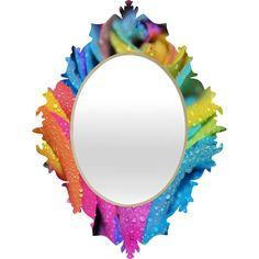 Lisa Argyropoulos Rainbow Swirl Baroque Mirror