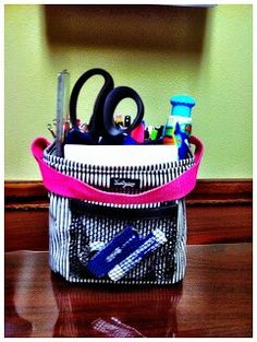 Littles Carry All by 31 ideas for desk organization and perfect VS bag for nursing supplies