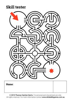 www.skidaddlegames.com.au Printable Mazes, Activities, Cards, Maps, Playing Cards