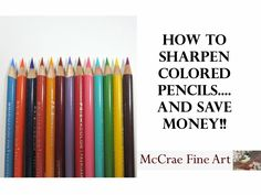 This is an awesome video on pencil sharpening. Watch, learn and save money on your expensive pencils.