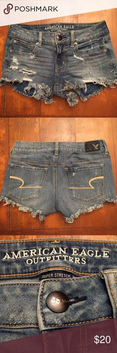 American Eagle Distressed Denim Jeans Shorts American Eagle Distressed Denim Jeans Shorts American Eagle Outfitters Shorts Jean Shorts