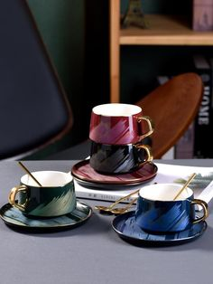 Lux Coffee Cup With Spoon – SMS Home Staging