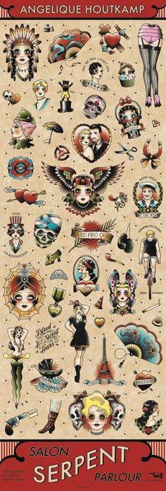 Angelique Houtkamp Plakate präsentiert von Klang und Kleid - SALON SERPENT PARLOUR BANNER - ANGELIQUE HOUTKAMP: