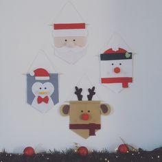 Combo Flâmulas de Feltro - Decoração de Natal