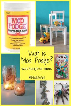 Wat is Mod Podge? Duidelijk uiitleg wat het is en wat je er mee kan. Diy Mod Podge, Mod Podge Matte, Mod Podge Crafts, Mod Podge Ideas, Craft Stick Crafts, Diy Crafts To Sell, Marianne Design, Easter Crafts For Kids, Diy Dollhouse