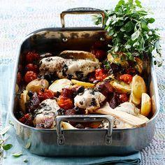 Allt-i-ett-middag med kyckling och chorizo