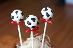 Specialized cake pops for that Cow/Chick-fil-A party!