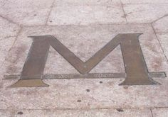 Don't step on the M, unless you've passed your first blue book!