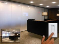 Switchable LC Privacy Glass for Reception Areas | eGlass Modern Office Design - Innovative Glass Corp
