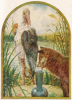 The Fox And The Stork - Jean De La Fontaine Fables