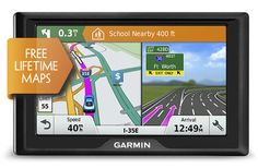 The Garmin Drive 51LM is an entry-level GPS navigator with free lifetime map updates , driver alerts for sharp curves, speed changes, crossings & fatigue warnings.  #garmindrive51lm #garmin #gps #garmingps #garmindrive