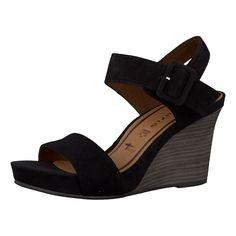 Die Tamaris Fiorel Sandaletten besitzen ein Obermaterial aus hochwertigem Ziegenveloursleder. Die Schuhe lassen sich durch eine praktische Schnalle ideal an den Fuß anpassen.  - anpassungsfähige TOUCH-IT-Decksohle - Absatzart: Keil - Absatzhöhe:8 cm - strukturierte Laufsohle  Obermaterial: Leder (Ziegenveloursleder) Futter: Textil Decksohle: Leder Laufsohle: Sonstiges Material (Synthetik)  Mate...