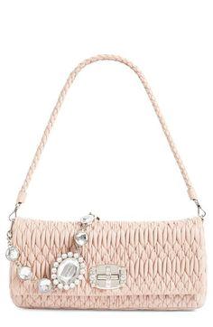 MIU MIU Medium Swarovski Crystal Chain Leather Shoulder Bag.  miumiu  bags   shoulder 6127182725