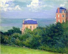 Gustave CAILLEBOTTE Villas at Villers-sur-Mer #Normandie #Côte-Fleurie #Calvados #Villers-sur-Mer