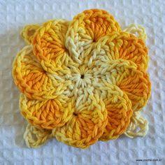 Crochet-Flowers on Pinterest | Crochet Brooch, Crochet Flowers and