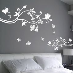 Free Shipping Wholesale and Retail Flowers Large Wall Stickers Wall Decals Wall Covering Wall Paper Home Decor