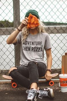 Adventure Then Pizza Unisex Tee
